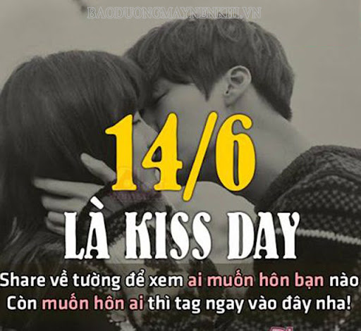 Ngày kiss day dành cho các cặp đôi yêu nhau